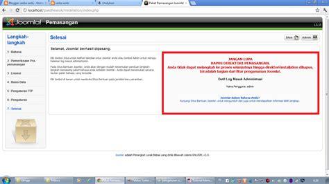 membuat website joomla di localhost serba serbi membuat website dengan joomla