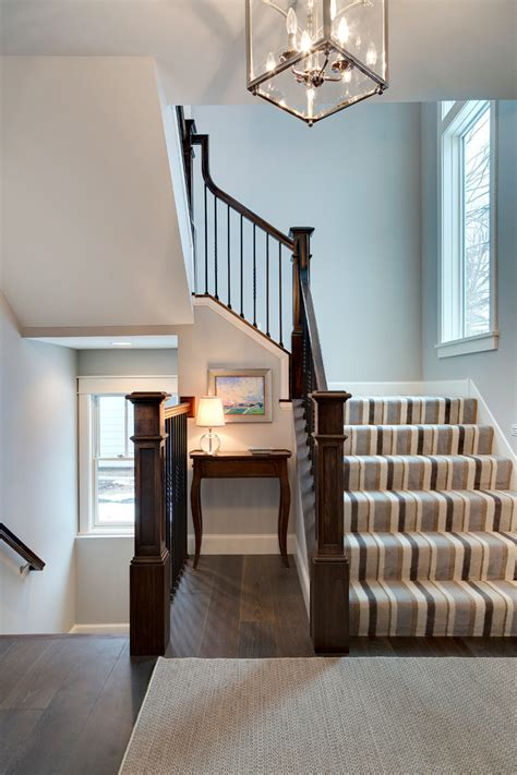Cottage Staircase by Wayzata Cottage Home Interior Design By Grace Hill