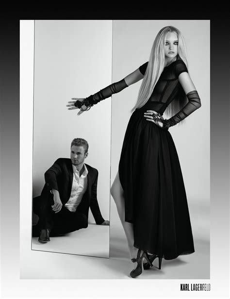 K By Karl Lagerfeld The 2008 Advertising Caign by Karl Lagerfeld S S 2008 Gemma Ward Brad Kroenig By