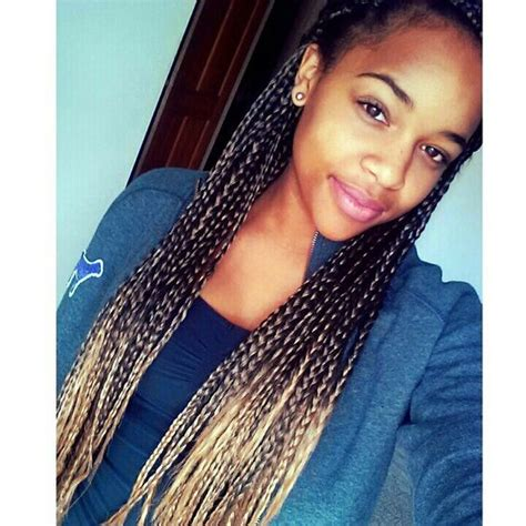 dyed tips of box braids i m loving the box braids with the ombre hair color