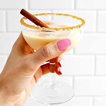 eggnog martini recipe eggnog martini midwest living