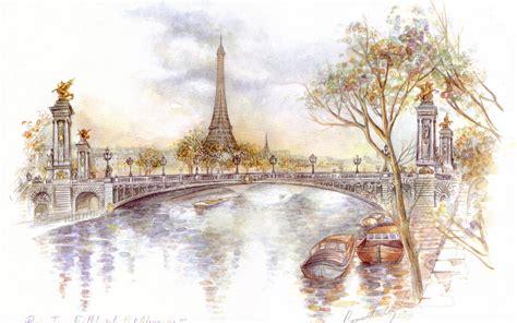 theme painting definition paris wallpaper drawing art eiffel 12890 wallpaper