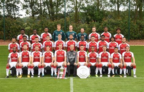 arsenal team arsenal news squad photo confirms promotion of three