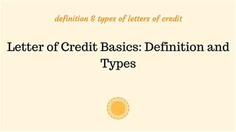 Bank Letter Of Credit Definition letter of credit basics definition and types advancedontrade export import customs