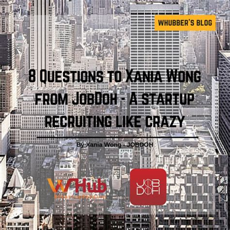 Sh T Happens Monstore 8 questions to xania wong from jobdoh a startup