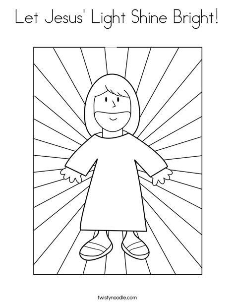 let jesus light shine bright coloring page twisty noodle