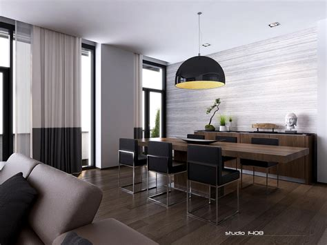 The Modern Dining Room by Apartment Living For The Modern Minimalist