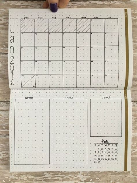 monthly layout bullet journal 10 monthly layouts to simplify your life pinterest