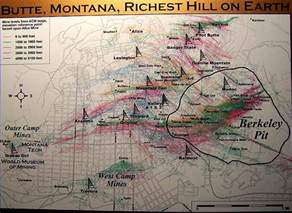 Butte Montana Map by Butte Mines Geo Hikes