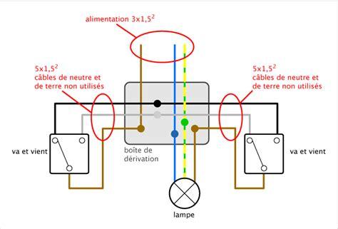 schema pattern d schema electrique d un va et vient avec 2 les design