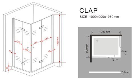 Kleiderschrank Schiebetüren 150 Cm by Duschkabine Clap 100 X 90 X 195 Cm Ohne Duschtasse