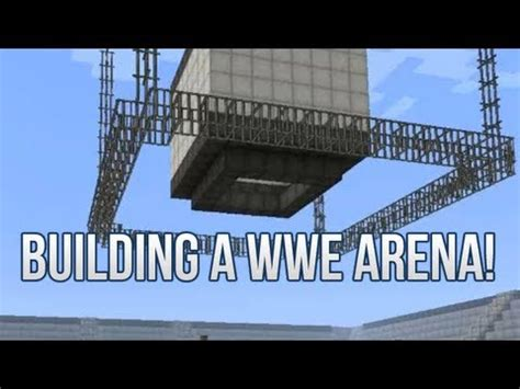 building  full wwe arena  titantron minecraft creative
