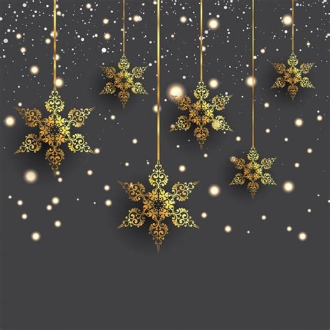 hanging snowflakes background with decorative hanging snowflakes