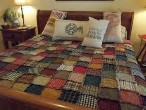 king size scrappy rag quilt