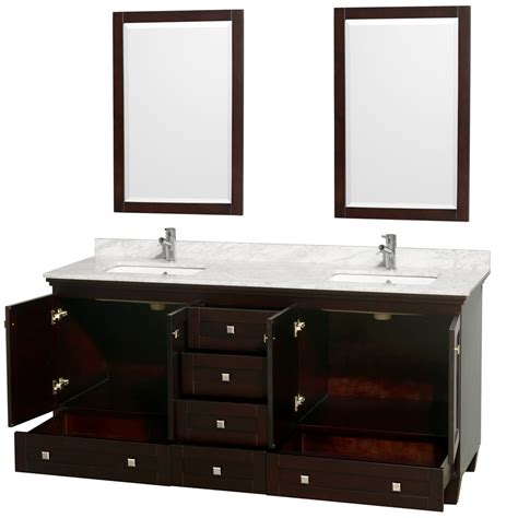 acclaim 72 quot espresso bathroom vanity set