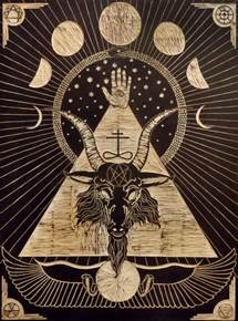 illuminati goat illustration black illuminati wood goat horns woodprint