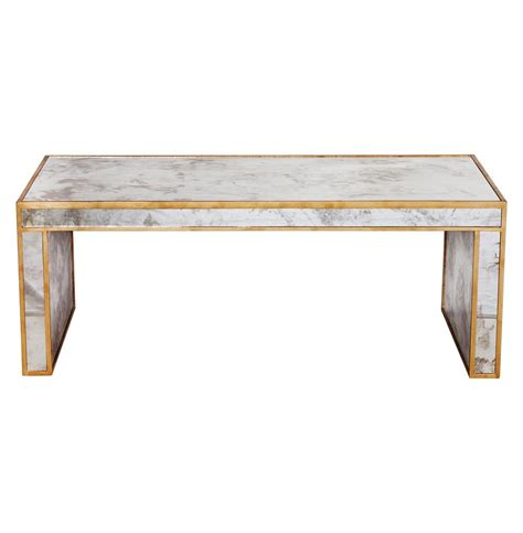 Antique Gold Coffee Table Spencer Regency Antique Gold Mirror Coffee Table Kathy Kuo Home
