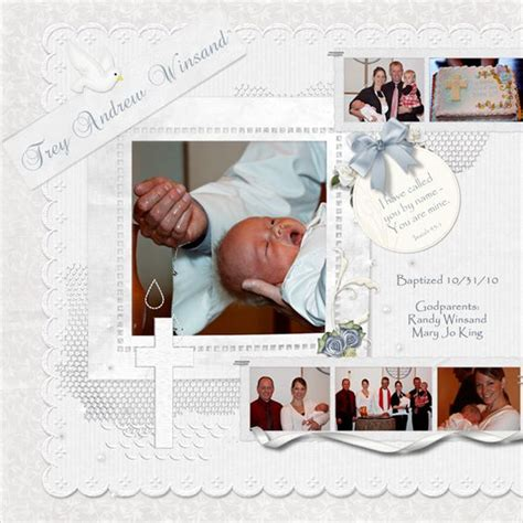 layout design for baptism layouts for scrapbooking 1st communion trey s baptism