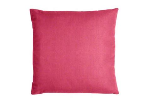 sunbrella throw pillow in pink