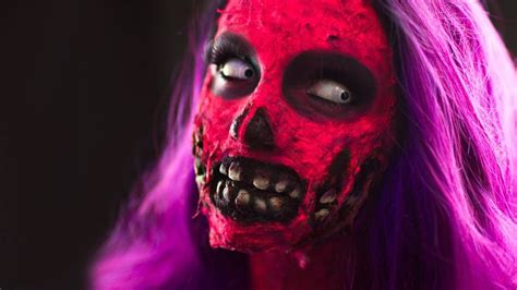 zombie fx tutorial ripped cheeks exposed teeth zombie fx makeup tutorial