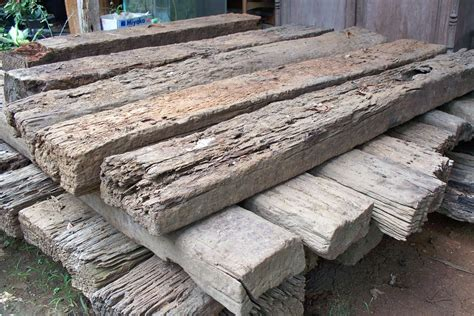 Wooden Sleeper by Reclaimed Railway Sleepers Gogreen Furniture Indonesia