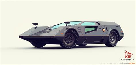real futuristic cars 3d retro futuristic race car by grafit art on deviantart