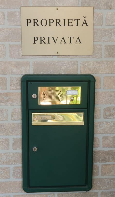 cassetta postale con citofono pbrbo casellari postali e cassette posta