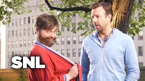 zach galifianakis on snl snl promo zach galifianakis saturday night live youtube