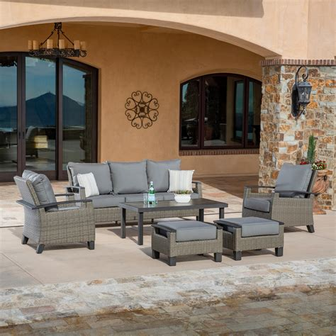 las palmas pc deep seating collection gray mission