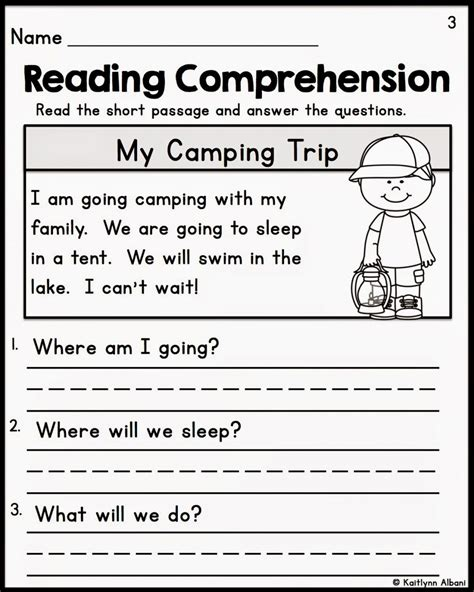 free printable reading comprehension worksheets for th