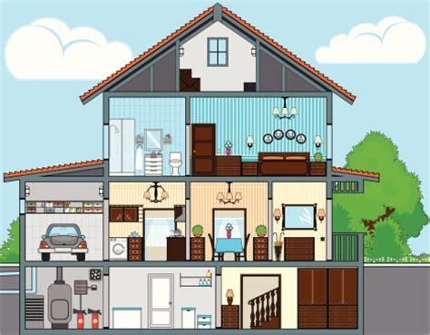 drawing of a house with garage construction de maison individuelle styles de maison