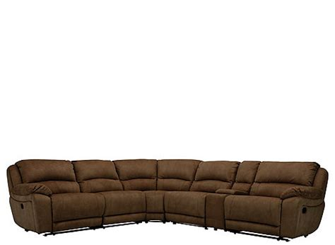Microfiber Reclining Sectional Sofa Mackenzie 6 Pc Microfiber Power Reclining Sectional Sofa Sectional Sofas