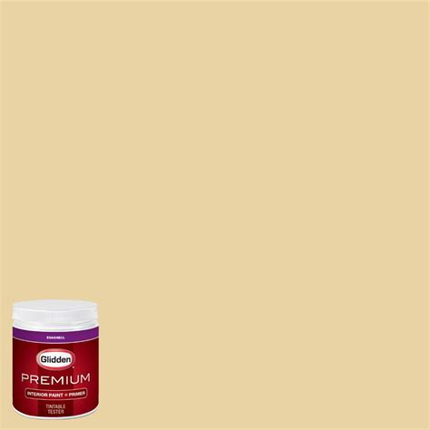 glidden premium 8 oz hdgy36 costa mesa yellow eggshell interior paint with primer tester