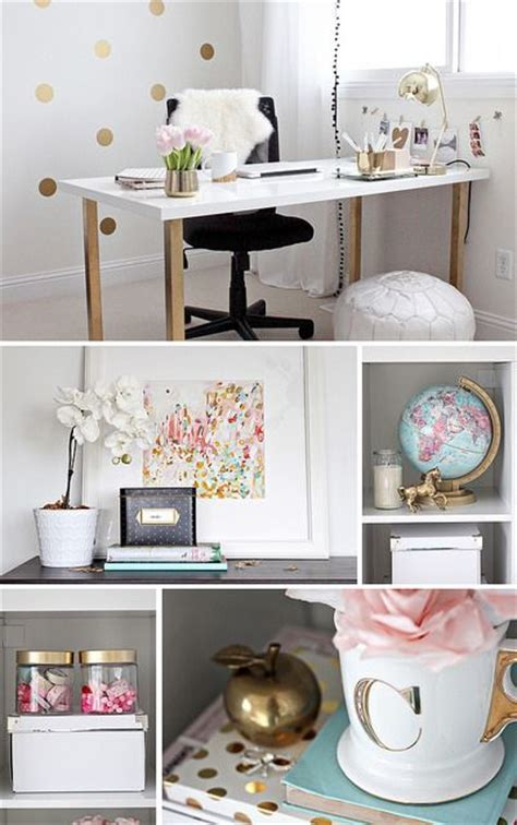 office decoration items best 25 pink gold office ideas on pinterest gold office