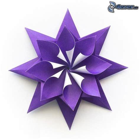 Fleur Origami - easy origami violet comot