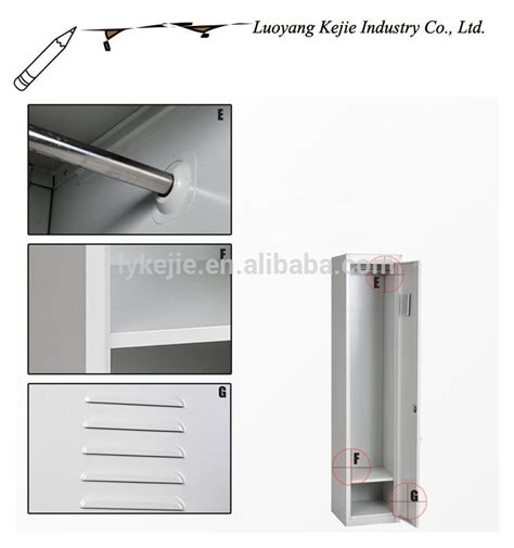 Dubai Hot Used Steel Cabinet Clothes Locker Single Door