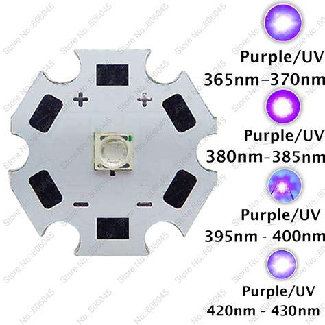 High Power Led 3535 1 3w 130lm 2 800 3 000k Lb 10pcs 3w 3535 uv ultraviolet purple color epileds high power led light emitter 365nm 370nm 380nm