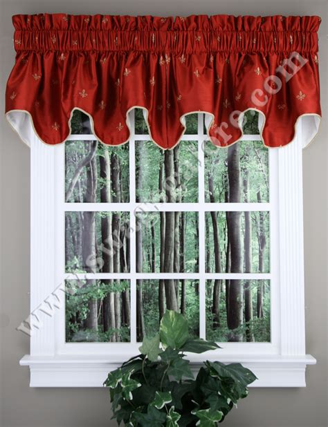 kitchen curtains valance fleur de lis duchess filler valance ellis kitchen valances