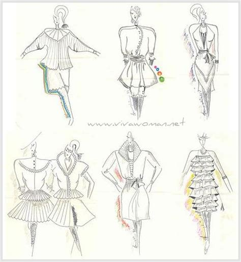 fashion illustration ruffles ruffles and frills from the 1980s