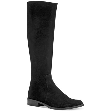 calvin klein taylin wide calf boots in black black