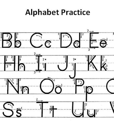abc template abc writing template