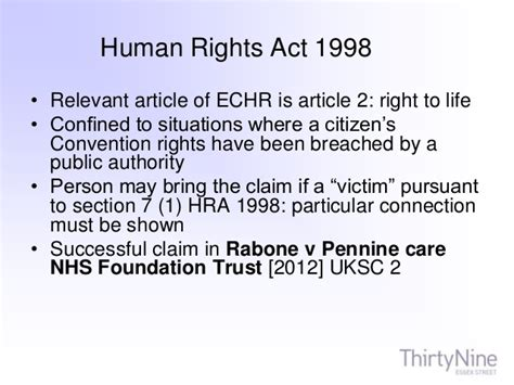 section 3 of the human rights act 1998 section 2 human rights act 1998 fatal accidents section