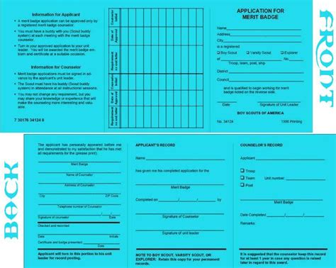 bsa blue card word template printable forms bsa ciecorg invitations ideas