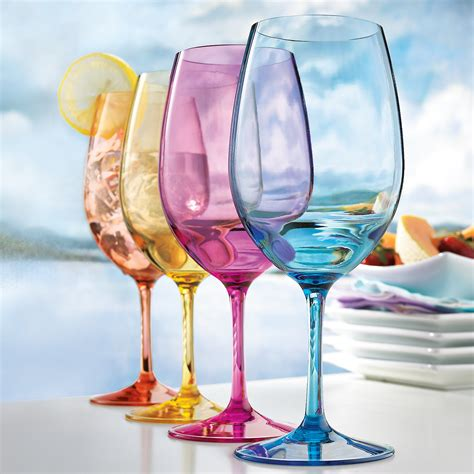 colored wine glasses big advantages of plastic wine glasses for