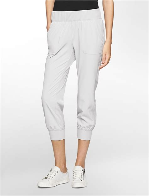 Uniqlo S001 White Lable Grey Wash lyst calvin klein white label performance cropped jogger