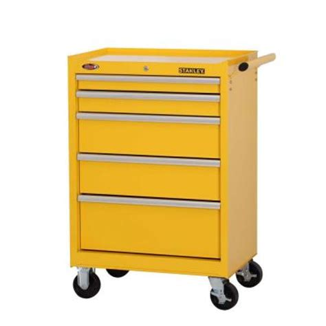 stanley 27 in 5 drawer wide tool cabinet yellow from
