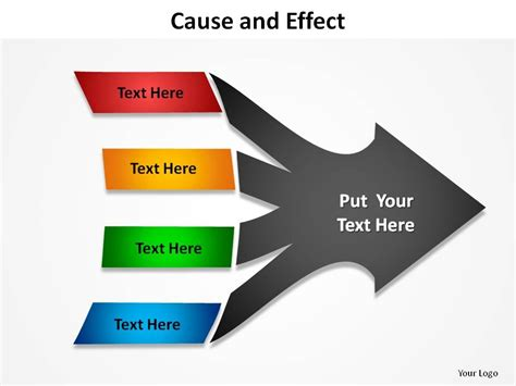 Skillfully Designed Business Slides Showing Cause And Effect With Arrows 4 Causes Slides Cause And Effect Diagram Template Powerpoint