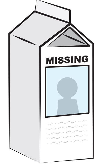 missing on milk carton template