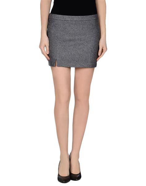 m grifoni denim mini skirt in gray grey lyst