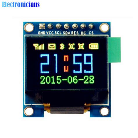Oled 2828 Color Display Module aliexpress buy 0 95 inch spi color oled display diy module 96x64 lcd for arduino